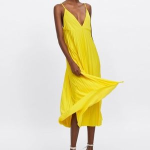 Zara Pleated Midi Dress NWT